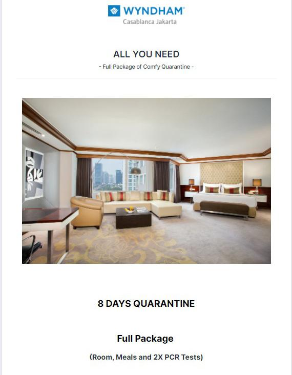 Quarantine Hotels Jakarta